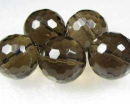 11-12mm Brazil Smokey Quartz Drilled Beads Z 2082