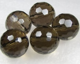 11-12mm Brazil Smokey Quartz Drilled Beads Z 2083