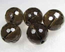 11-12mm Brazil Smokey Quartz Drilled Beads Z 2084