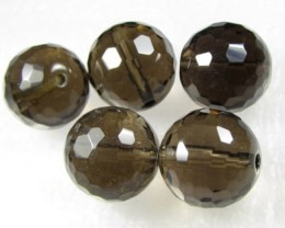 11-12mm Brazil Smokey Quartz Drilled Beads Z 2085