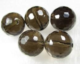 11-12mm Brazil Smokey Quartz Drilled Beads Z 2085