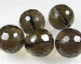 11-12mm Brazil Smokey Quartz Drilled Beads Z 2086