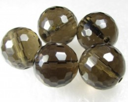 11-12mm Brazil Smokey Quartz Drilled Beads Z 2087