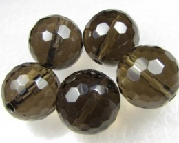 11-12mm Brazil Smokey Quartz Drilled Beads Z 2089