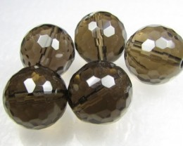 11-12mm Brazil Smokey Quartz Drilled Beads Z 2090