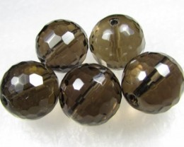 11-12mm Brazil Smokey Quartz Drilled Beads Z 2091