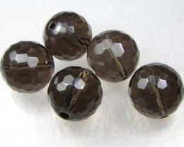 11-12mm Brazil Smokey Quartz Drilled Beads Z 2092