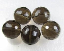 11-12mm Brazil Smokey Quartz Drilled Beads Z 2093
