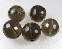 11-12mm Brazil Smokey Quartz Drilled Beads Z 2094