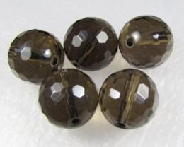 11-12mm Brazil Smokey Quartz Drilled Beads Z 2095