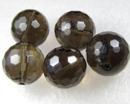 11-12mm Brazil Smokey Quartz Drilled Beads Z 2096