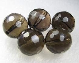 11-12mm Brazil Smokey Quartz Drilled Beads Z 2099