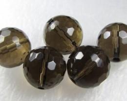 11-12mm Brazil Smokey Quartz Drilled Beads Z 2100