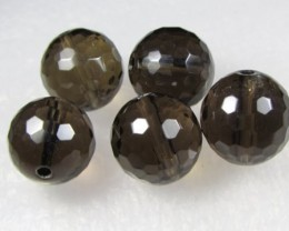 11-12mm Brazil Smokey Quartz Drilled Beads Z 2101