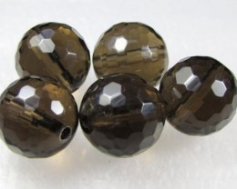 11-12mm Brazil Smokey Quartz Drilled Beads Z 2102