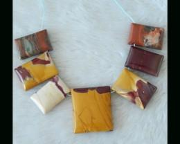 Mookaite Jasper Pendant Beads Set,Vivid Color Heavy Necklace