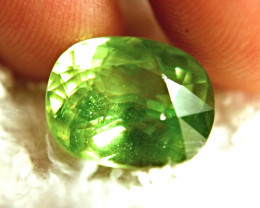 9.31 Carat Vibrant Green Siberian Rainbow Sphene - Superb