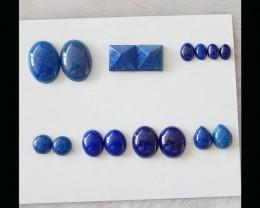Natural Lapis Lazuli Cabochon Set,17x12x5mm,58.6cts