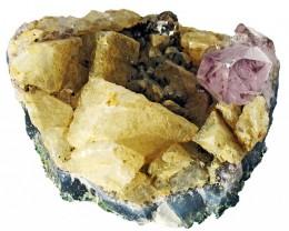 515.00 Cts Brazil Amethyst & Calcite specimen  RB 103