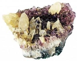 930.00 Cts Brazil Amethyst & Calcite specimen  RB 105