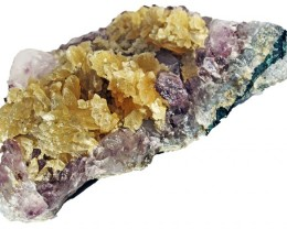 1075.00 Cts Brazil Amethyst & Calcite specimen  RB 107