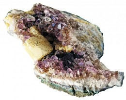 830.00 Cts Brazil Amethyst & Calcite specimen  RB 108