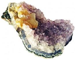 1375.00 Cts Brazil Amethyst & Calcite specimen  RB 113