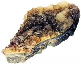 1545.00 Cts Brazil Amethyst & Calcite specimen  RB 122