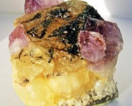 1135.00 Cts Brazil Amethyst & Calcite specimen  RB 124