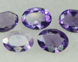 Natural Brazil Amethyst Faceted Stone Parcel Y180