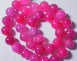 HIGH QUALITY 12MM DYED FUSCHIA DRAGON VEIN AGATE ROUND BEADS!! OLOR!!
