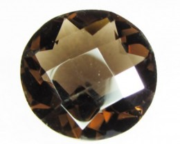 Natural Brazil Smokey Quartz Faceted Stone Z 2164