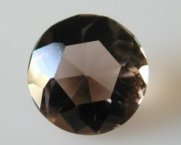 6.40ct WONDERFUL BRAZILIAN FACETED SMOKEY QUARTZ GEM CUT IN THE U.S (MJ10)