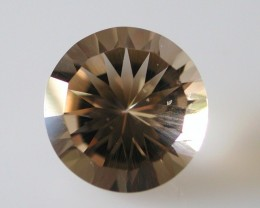 6.70ct WONDERFUL BRAZILIAN FACETED SMOKEY QUARTZ GEM CUT IN THE U.S (MJ11)
