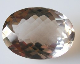 20.85ct WONDERFUL BRAZILIAN FACETED SMOKEY QUARTZ GEM CUT IN THE U.S (MJ13)