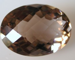 20.20ct WONDERFUL BRAZILIAN FACETED SMOKEY QUARTZ GEM CUT IN THE U.S (MJ19)