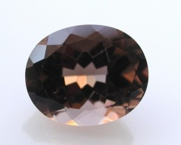 3.55ct WONDERFUL BRAZILIAN FACETED SMOKEY QUARTZ GEM CUT IN THE U.S (MJ43)
