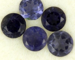1.09 CTS PURPLE BLUE IOLITE - THE WATER SAPPHIRE  [ST8636]
