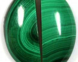 18.25  CTS CABOCHON HIGH DOME MALACHITE PAIRS