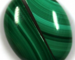 17.30 CTS CABOCHON HIGH DOME MALACHITE PAIRS