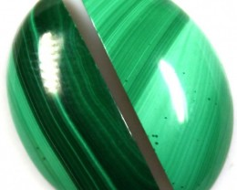 16.95 CTS CABOCHON HIGH DOME MALACHITE PAIRS
