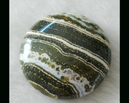 35x10mm   Natural Ocean Jasper Round Cabochon,Clearly Pattern