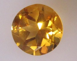 2.98cts Golden Yellow Citrine Round Shape