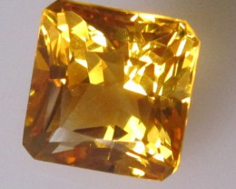 5.06cts Golden Yellow Citrine Square Emerald Cut