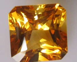 6.99 cts Golden Yellow Citrine Square Radiant Shape