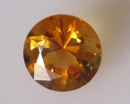 1.33cts Golden Yellow Citrine Round Shape