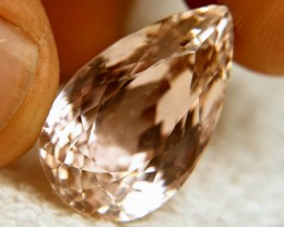 30.77 Carat IF/VVS1 Peach Himalayan Kunzite - Superb