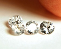 3.43 Tcw. 4 Pieces VVS/VS Southeast Asian White Zircon - Gorgeous