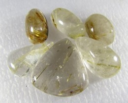 102cts Natural Brazil Golden Rutile Quartz Lot Z 2233