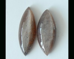 Natural Sunstone Cabochon,Vintage Gem Jewelry Design Making ,27x19x6mm